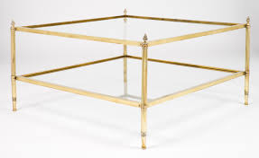 Exceptional ... Vintage Maison Brass Coffee Table Jean Marc Fray Antique And Glass  Parrott 00048500 15b104 French Squ