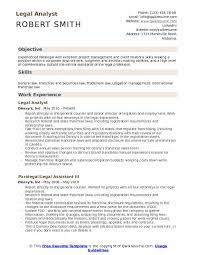 Legal Resume Beauteous Legal Analyst Resume Samples QwikResume