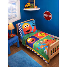 sesame street construction zone 3 piece toddler bedding set with bonus matching pillow case com