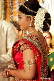 Indian Hair Style bridal hairstyle indian wedding women medium haircut 7471 by wearticles.com