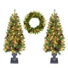 Amazoncom LB International 6u0027 MultiColor LED Light Show Cone 4 Christmas Trees