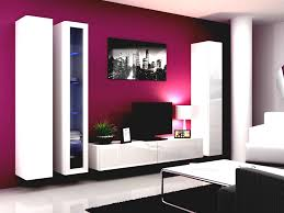 modern living room white. Purple Wall Color Modern Living Room White Coffee Table Cupboard Bookcase Tv Stand Lamp Sofa Design