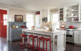 cottage kitchen furniture. Board Walls, Inset Cabinets, Beadboard Accents, And Freestanding Kitchen Furniture Are Historical Details Cottage E