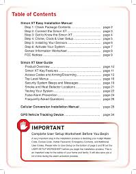 protect america home security systems installation manual and user gu 2 table of contents simon xt easy installation