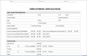 employment application form template info job application template template for job application employment