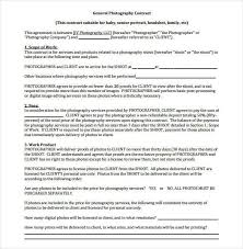 Photography Contracts 22 Photography Contract Templates Word Pdf Apple Pages