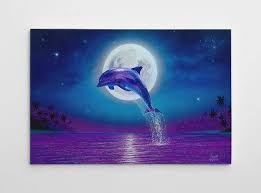 te gusta este art culo  on dolphin canvas wall art with dolphin wall decor dolphin canvas art large beach painting