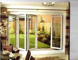 image of bifold patio doors with internal blinds
