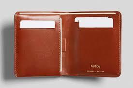 bellroy leather wallet business card holder