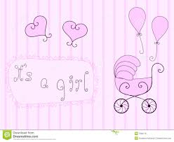 Announcement For Baby Girl Baby Girl Announcement Stock Vector Illustration Of Floral 7630176