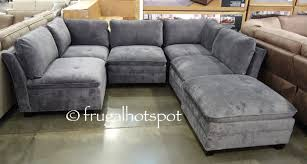 6 piece modular sectional. Contemporary Sectional 6Piece Modular Fabric Sectional Costco  Frugal Hotspot Inside 6 Piece A