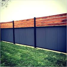 corrugated metal fence custom privacy built out of post tiger wood and m corrugated metal fence