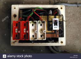old style consumer unit electrical wire fuse box stock photo  at Old Fuse Box Is Now Called A