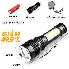 Đèn pin siêu sáng T6-29 full phụ kiện ,đèn COB ,bóng đèn tiêu chuẩn t6,khả  năng kháng nước tiêu chuẩn ipx5,bền rẻ đẹp.