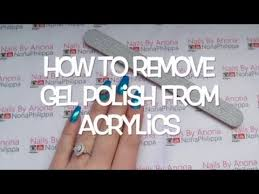 remove gel polish from acrylic nails