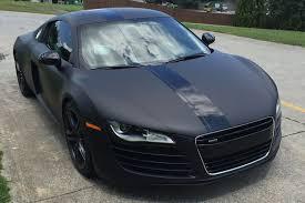 audi r8 convertible matte black. matte deep black audi r8 wrap convertible a