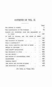 essays scientific political and speculative vol online  original table of contents or first page