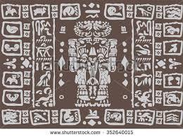 Mayan Patterns Mesmerizing Vector Ancient Patterns Mayan Gods Ornaments Stock Vector Royalty