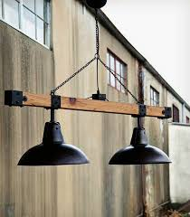 industrial style warehouse light beam wood lamps restaurant bar pendant