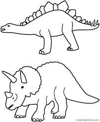 Small Picture Stegosaurus and Triceratops Coloring Page Birthday