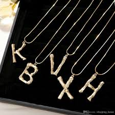 whole new fashion trendy women luxury design necklace yellow gold plated letter lock pendant necklaces bracelet for girls women for wedding party family