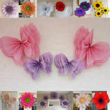 Pink Paper Flower Decorations Details About Butterfly Fairy Pompom Paper Flower Wall Tissue Venue Decorations Birthday Pink