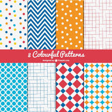 Free Patterns Delectable Colorful Patterns Pack Vector Free Download