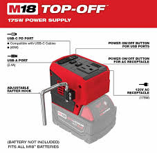 Hot promotions in battery coffee maker on aliexpress: New Milwaukee M18 Top Off Usb And Ac Power Adapter