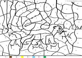 Animal Color By Number Color By Number Skunk Coloring Pages