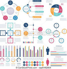 Infographic Elements Modern Infochart Marketing Chart And Graphs Bar Diagrams Option Process Graph For Internet Report Vector Set