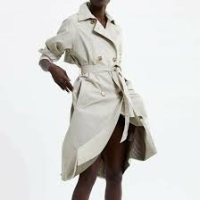 details about zara woman new 2019 stone belted trench coat ref 5071 024