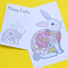 Posted in animals coloring pages. Easter Bunny Coloring Pages Red Ted Art Make Crafting With Kids Easy Fun