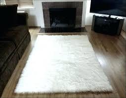faux fur area rug at big lots