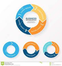 Vector Circle Arrows Infographic 1 2 3 4 Stock Vector