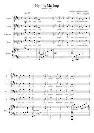 Easter Medley Anthem Lights Sheet Music Hymns Mashup Anthem Lights Sheet Music For Piano Voice