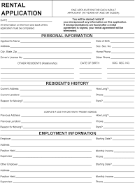 Rent Lease Application Form Free Wisconsin Rental Application Form Pdf 97kb 2 Page S