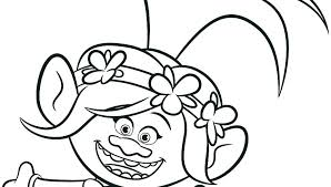 Trolls Coloring Book Pages Trolls Poppy Coloring Pages Dreamworks