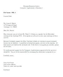 Email Letter Template