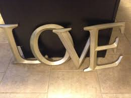 Large Letters For Decorating Metal Alphabet Letters Wall Decor Great