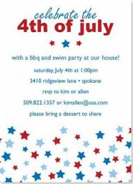patriotic invitations templates july 4th party template