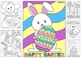 Sweet And Sunny Spring Easter Coloring Pages Thanksgivingcom