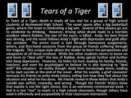 ways not to start a tears of a tiger essay involve the symbol of the tiger school and the psychologist dr chrrothers carnivorous mammals evolved from miacids small pine marten like insectivores