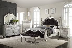 SilverBlack Queen Bedroom Set 5 Piece Mega Mattress LLC