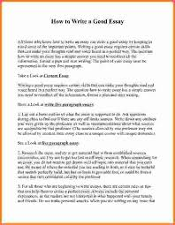 essay writing example good essay writing example