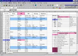 monthly calendar excel excel lookup function for calendar and planner with birthdays