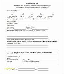Workplace Incident Report Form Template Free Lovely Lovely Accident