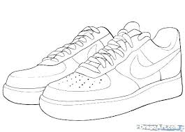 Jordan Shoe Coloring Pages Running Downcom