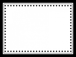 かわいい白黒のシンプルなフレーム飾り枠イラスト 無料イラスト