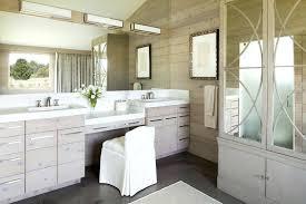 elegant bathroom vanities double sink vanity with makeup area in master bath the incredible plan 2