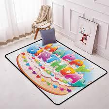 2 Floor Cake Design Amazon Com Kids Birthday Bedroom Carpet Cartoon Style Happy